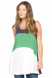 NOM Liz Colorblock Maternity Tank Top