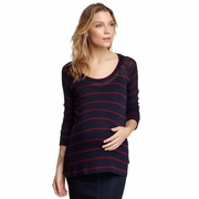 NOM Maternity Clare Loose Knit Tunic Top
