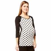 NOM Maternity Jesse Raglan Sleeve Dot Top