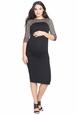 NOM Maternity Lacey Little Black Dress