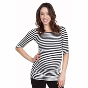 Nom Melissa Striped Maternity Tunic Top