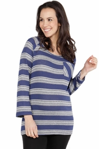 Nom Nina Lightweight Striped Maternity Sweater