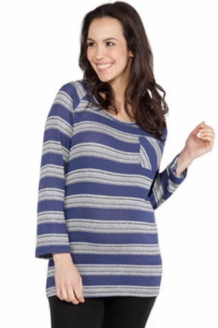 SOLD OUT Nom Nina Lightweight Striped Maternity Sweater