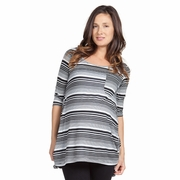 Nom Paloma Stripe Maternity Tunic Top