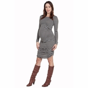 Nom Raleigh Striped Maternity Dress
