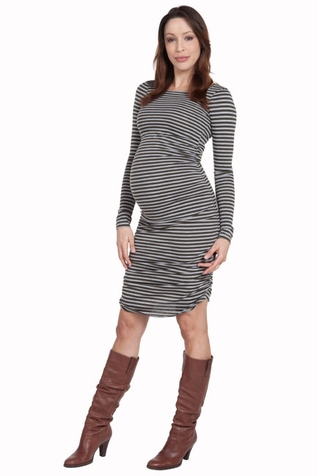 SOLD OUT Nom Raleigh Striped Maternity Dress
