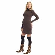 Nom Talya Maternity Turtleneck Dress