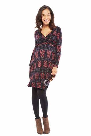 SOLD OUT Nom Zuri Printed Maternity Wrap Dress