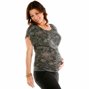 Nuka Flutter Black Maternity Top