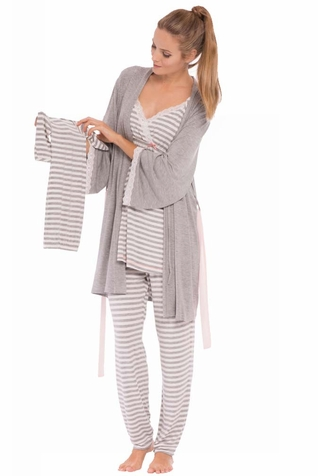 SOLD OUT Olian Anne 4 Piece Mom And Baby Maternity Nursing Pajama ...