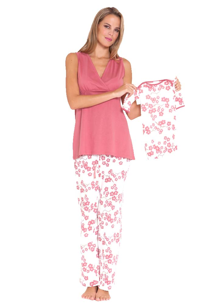 Styles of maternity and nursing pajama sets. Ease of access is one of the most important considerations when buying maternity and nursing pajama sets. These sleeping outfits come in a couple of styles that are stylish and comfortable. Some popular ones include shirt .