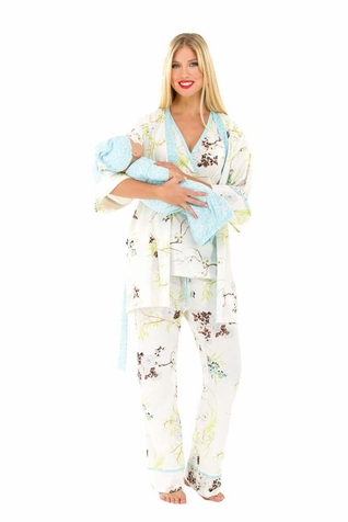 Olian Anne 5 Piece Mom And Baby Maternity Nursing Pajama Gift Set ...