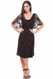 Olian Annette Lace Cape Maternity Dress