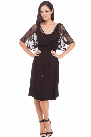 SOLD OUT Olian Annette Lace Cape Maternity Dress