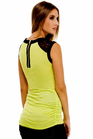 SOLD OUT Olian Annette Zip Back Lace Trim Maternity Top