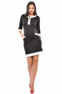 Olian Caroline Ponte Pocket Maternity Dress