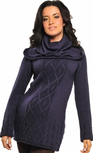Olian Cowl Maternity Tunic Sweater