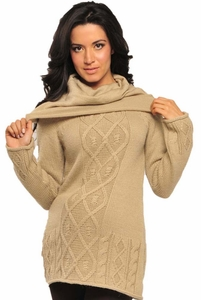 SOLD OUT Olian Cowl Maternity Tunic Sweater