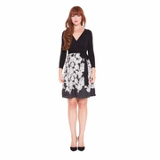 Olian Diane Floral Print Maternity Wrap Dress