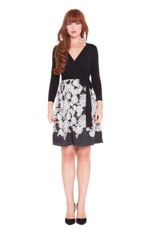SOLD OUT Olian Diane Floral Print Maternity Wrap Dress