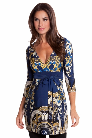 SOLD OUT Olian Edie Arabesque Print Maternity Tunic Top