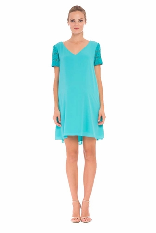 Olian Eloise Chiffon Maternity Shirt Dress