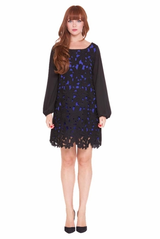 Olian Eloise Lace Overlay Maternity Cocktail Dress