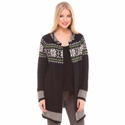 Olian Fair Isle Cardigan Maternity Sweater