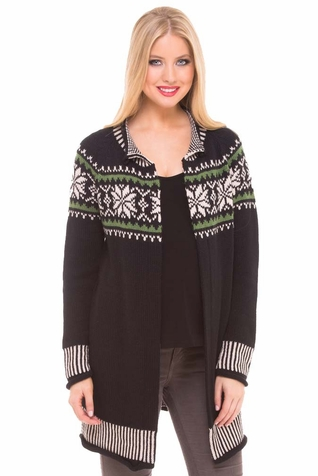 SOLD OUT Olian Fair Isle Cardigan Maternity Sweater