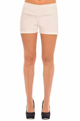 SOLD OUT Olian Foldover Twill Maternity Shorts