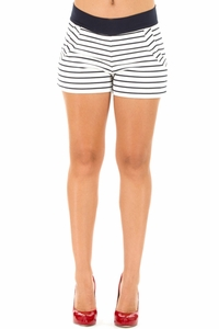 SOLD OUT Olian Gena Ponte Striped Maternity Shorts