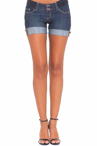 SOLD OUT Olian Genii Underbelly Denim Maternity Shorts