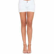 Olian Genii Underbelly Denim Maternity Shorts