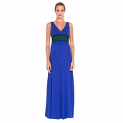Olian Jaci Crochet Trim Sleeveless Maternity Maxi Dress