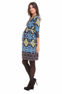 Olian Juliette Arabesque Print Maternity Dress