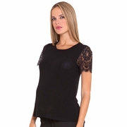 Olian Juliette Mixed Media Chiffon/Lace Maternity Top