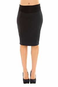 Olian Kate Career Back Pleated Pencil Skirt