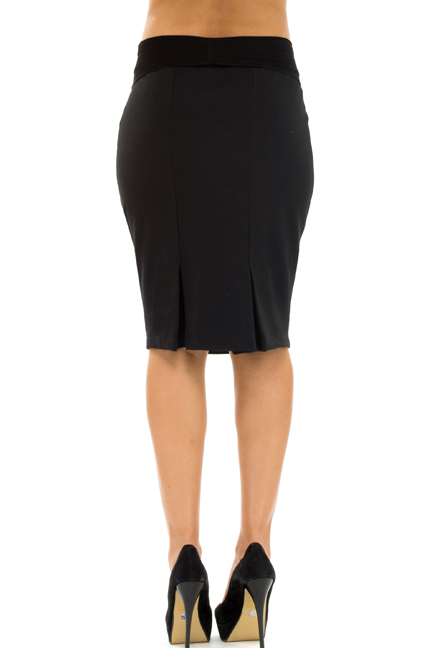 OUT Olian Kate Career Back Pleated Pencil Skirt