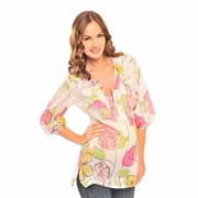 TEMPORARILY OUT OF STOCK Olian Lola Maternity Floral Peasant Top