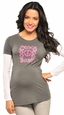 Olian Love Peace and Baby Maternity Tee