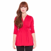 Olian Lucy 3/4 Sleeve V Neck Maternity Top