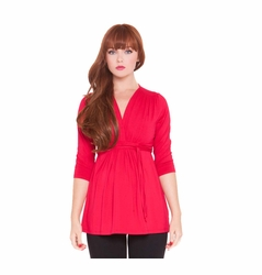 SOLD OUT Olian Lucy 3/4 Sleeve V Neck Maternity Top