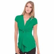 Olian Lucy Cap Sleeve Tie Front Maternity Top
