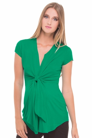 SOLD OUT Olian Lucy Cap Sleeve Tie Front Maternity Top