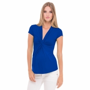 Olian Lucy Cap Sleeve V Neck Maternity Top