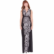 Olian Lucy Deep V Neck Maternity And Nursing Maxi Dress