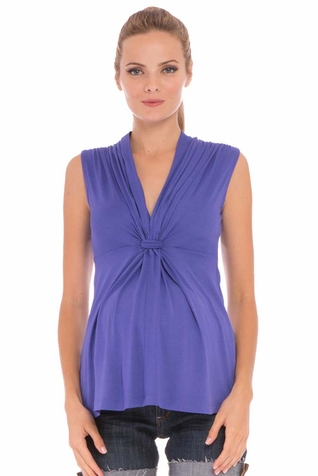 Olian Lucy Knot Front Maternity Top - Sleeveless