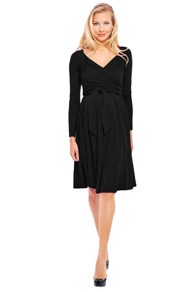 Olian Lucy Long Sleeve Maternity Wrap Dress | Maternity Clothes