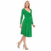 Olian Lucy Long Sleeve Maternity Wrap Dress