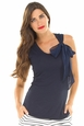 Olian Lucy Maternity Tank with Silk Bow